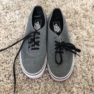 "Grey vans ""Authentic"" worn twice"